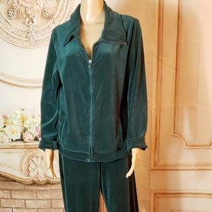 Talbots sweat pants size M and jacket size L
